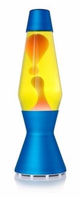 Astro Blauw - Geel met Oranje lava