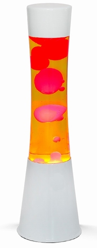 Lavalamp Wit - Geel/Rood