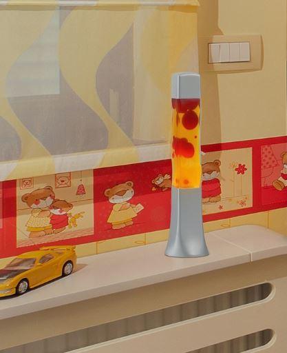 Wave lavalamp Geel/Rood