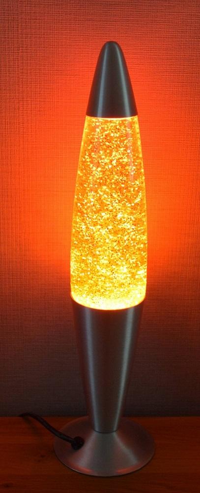Glitterlamp Oranje