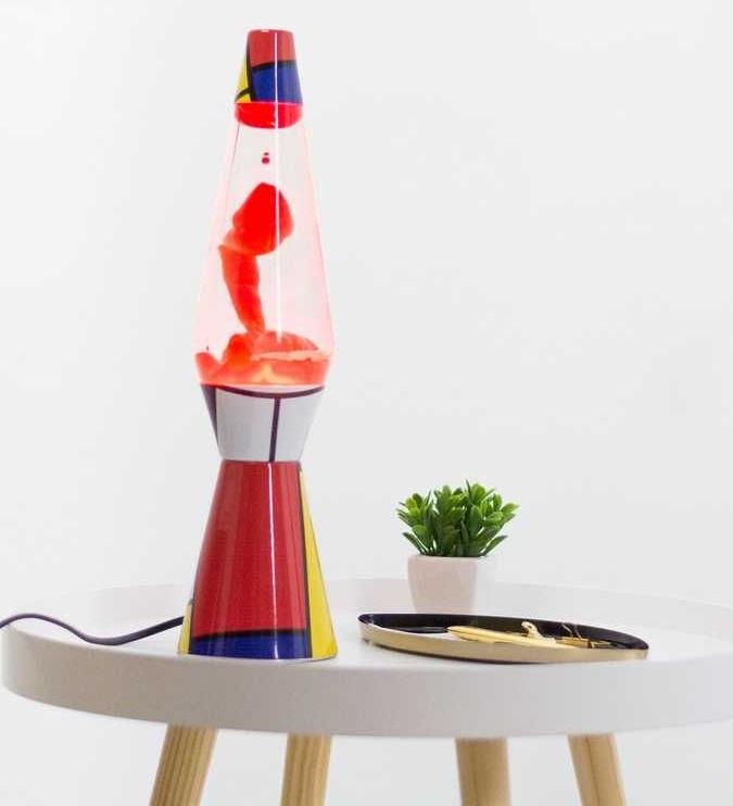 Mondrian lavalamp Rood