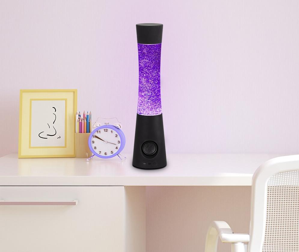 Glitterlamp met kleurenwissel en bluetooth speaker